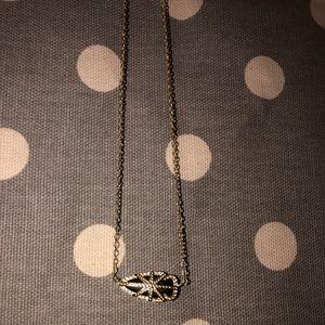 Kendra Scott Black and Gold Arrow Head necklace